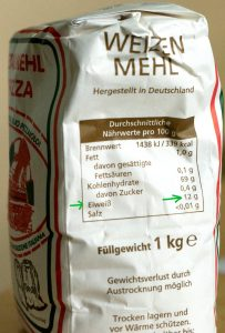 pizza-mehl protein